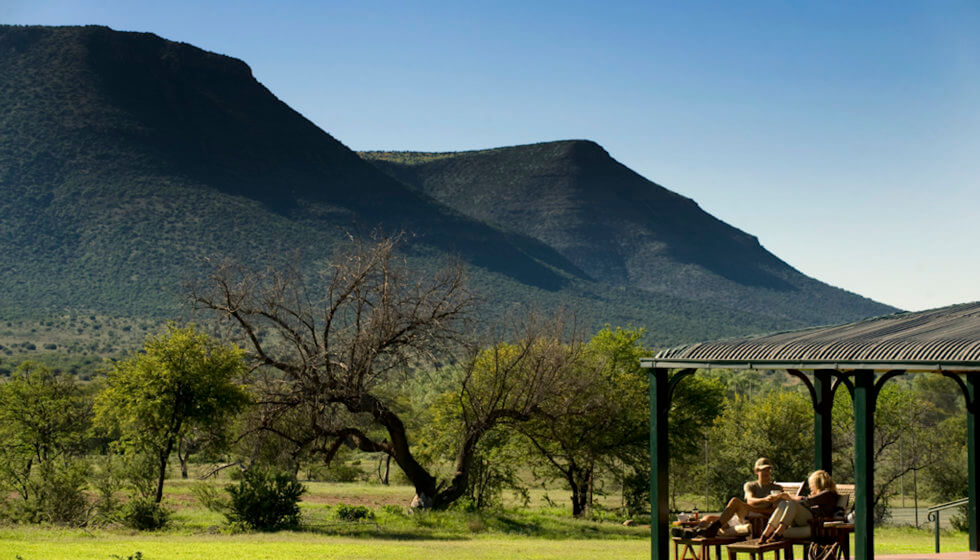 View from Karoo Lodge verandah, Samara Private Game Reserve, Great Karoo, South Africa