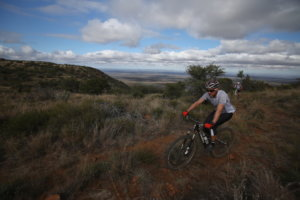 Mountain biking at Samara Private Game Reserve, Great Karoo, South Africa (copyright Hansa Winshaw)