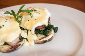 Karoo-style Eggs Benedict, Samara Private Game Reserve, Great Karoo, South Africa