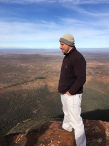 Marnus Ochse on Eagle Rock, Samara Private Game Reserve, Great Karoo, South Africa