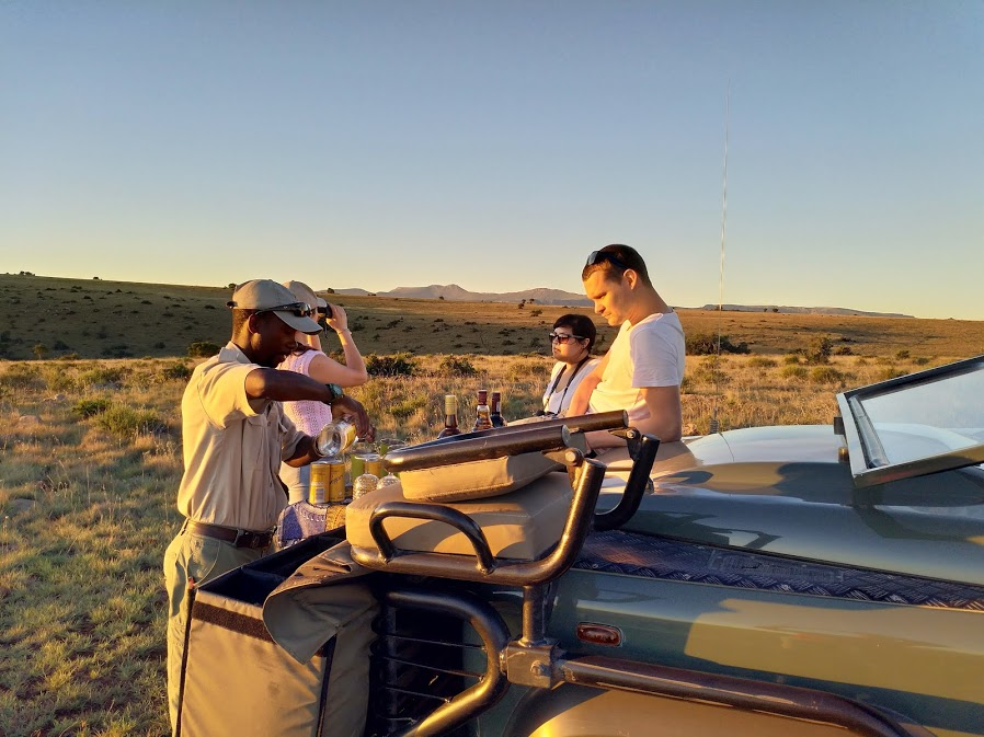 Sundowners on the Samara Mara, Samara Private Game Reserve, Great Karoo, South Africa