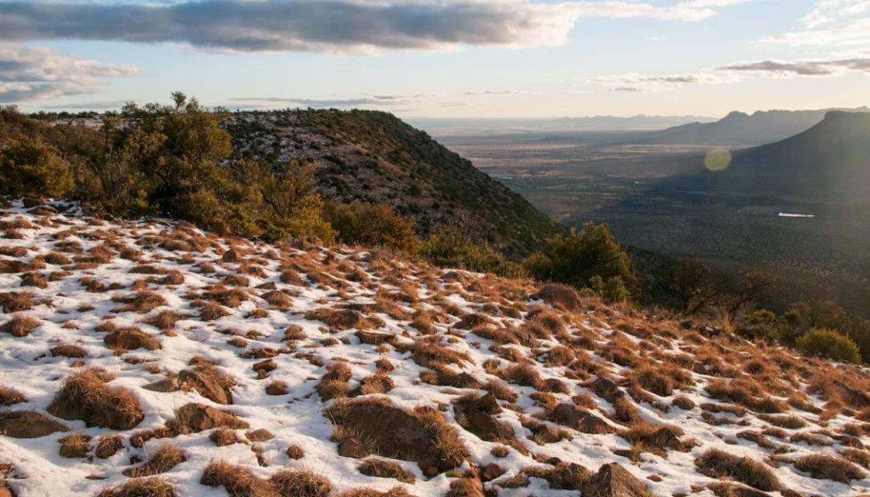 Snow on the Samara Mara, Samara Private Game Reserve, Great Karoo, South Africa