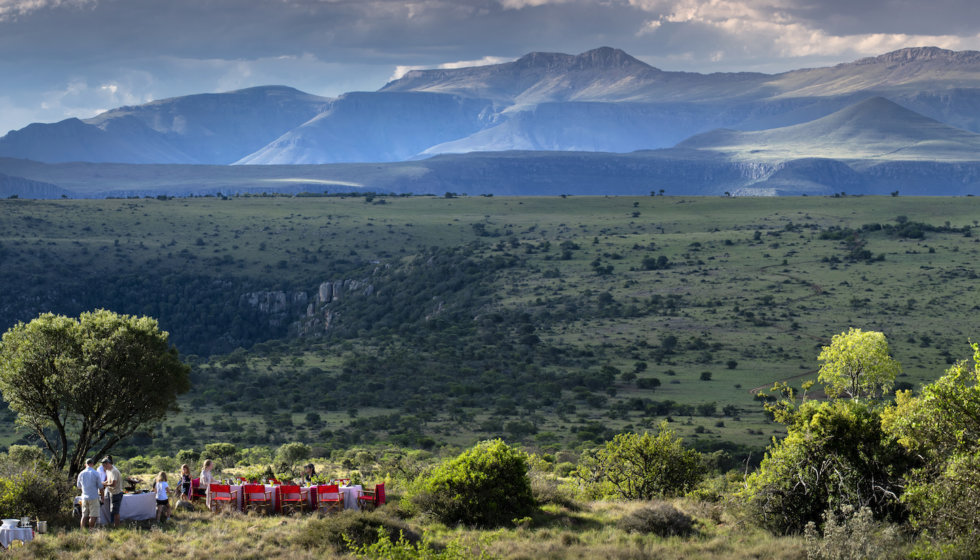 Picnic overlooking the Samara Mara, Samara Private Game Reserve, Great Karoo, South Africa